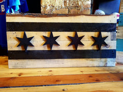 Rustic Look Wood Chicago Flag