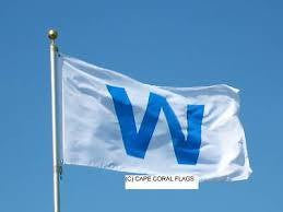 Wrigley Field Chicago Cubs Win Light Blue W 3x5 Flag Banner