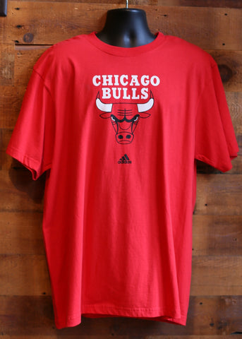 Men's T-Shirt Chicago Bulls Red Bulls and Adidas Logo