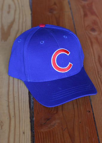 Hat Youth Chicago Cubs Blue with Red C