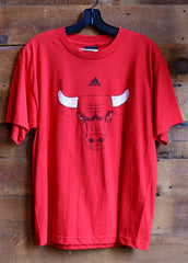 Youth T-Shirt Chicago Bulls Red with Bull Logo