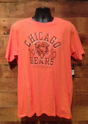 Men's T-Shirt Chicago Bears Orange with Navy Bear Logo