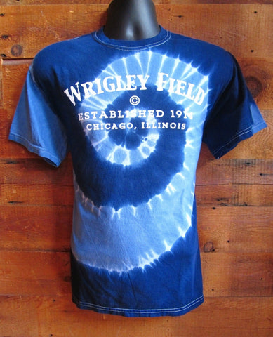 Men's T-Shirt Wrigley Field TieDie Blue SW