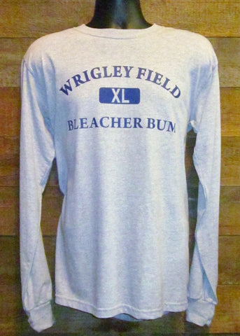 Men's Long Sleeve T-Shirt Wrigley Field Bum Grey Gildan