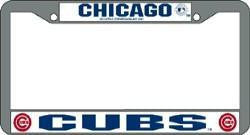 Chicago Cubs Chrome License Plate Frame