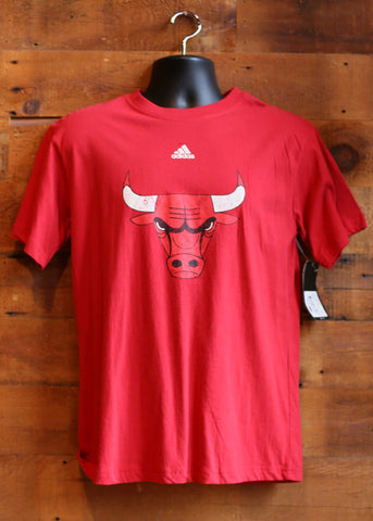 Men's T-Shirt Chicago Bulls Red with Logo Adidas