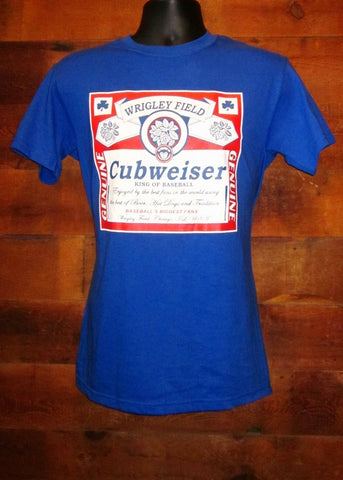 Men's T-Shirt Chicago Cubs Cubweiser Blue