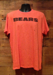 "Men's T-Shirt Chicago Bears Orange With Navy ""Bears"" writing"
