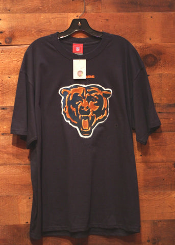 Men's T-Shirt Chicago Bears Navy with Orange Bear Logo