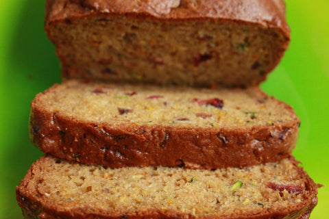 Gluten Free Orange Cranberry Zucchini Bread