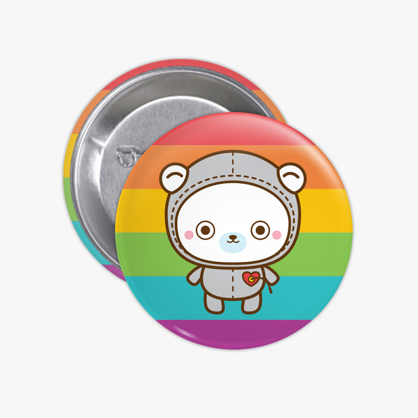 Button • Rainbow