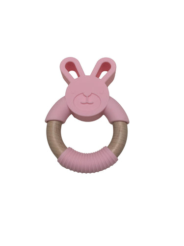 Bunny (silicone and wood) teether
