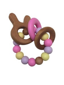 Wood Bunny teether