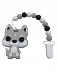 """Husky"" the dog teether"