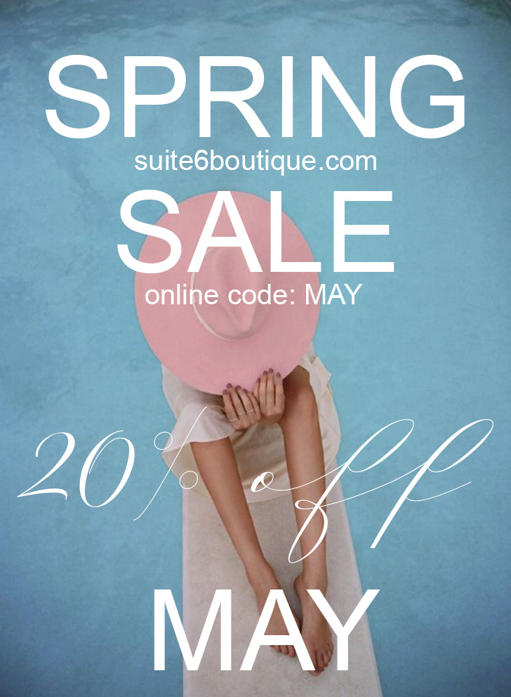 SPRING SALE - 20% OFF ONLINE + IN STORE