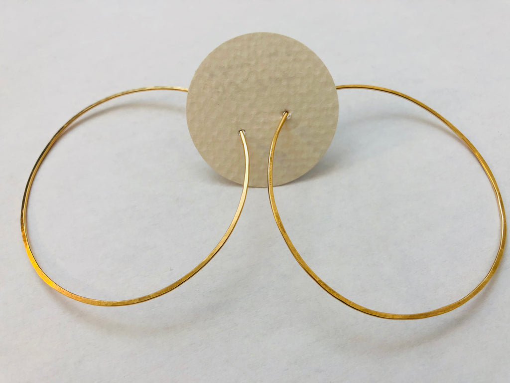 Gold Fill ELYSIUM PDX hoops - gold fill 2.25""