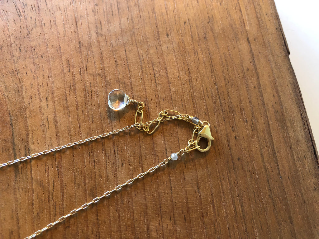 Gold Crescent Moon Necklace - Gold Fill / ELYSIUM PDX