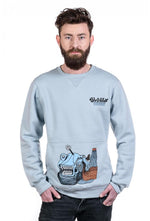 Slogan Fish Sweatshirt By Blue Darts - Blue - Veenofs