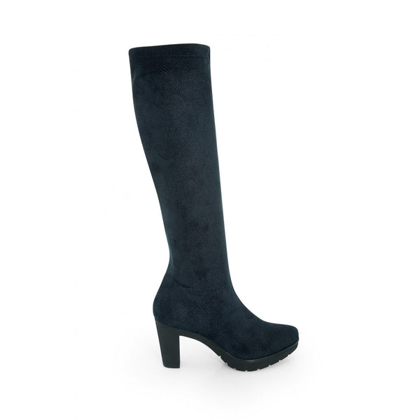 NOAH Norma Knee High Boots - Blue - Veenofs