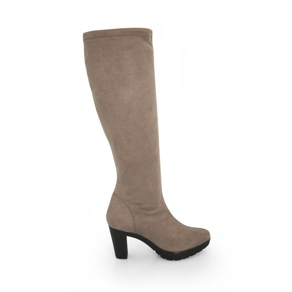 NOAH Norma Knee High Boots - Taupe - Veenofs