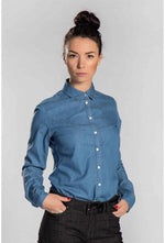 Slogan Denim Organic Cotton Shirt - Veenofs