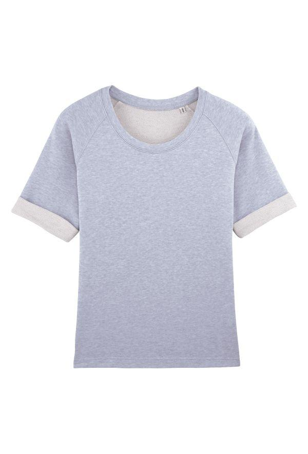 Slogan Women's Sorb Top - Blue Melange - Veenofs