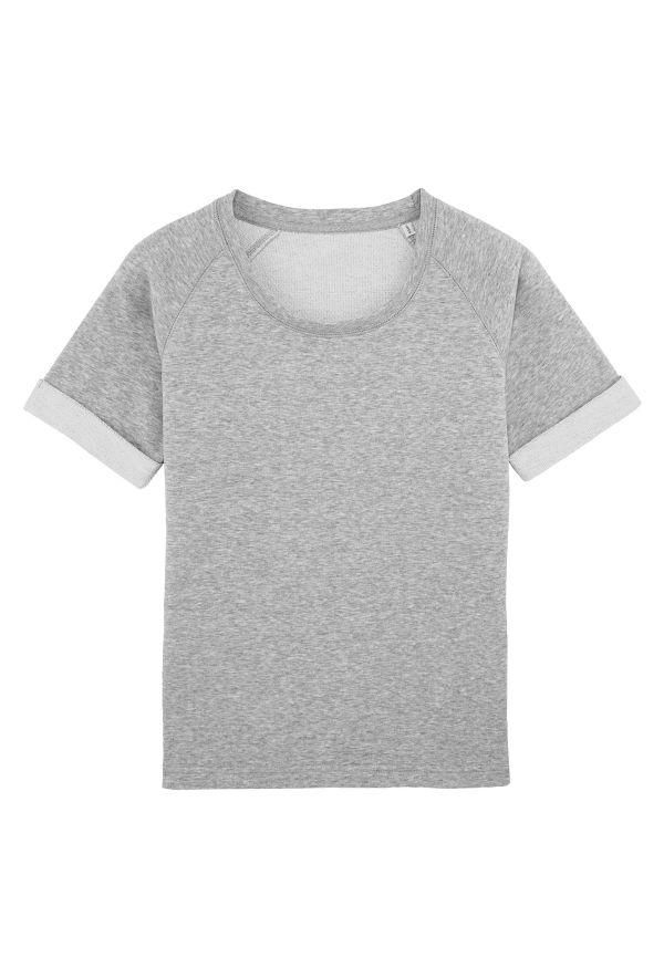 Slogan Women's Sorb Top - Gray Melange - Veenofs