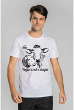 Slogan Vegan Is Not A Slogan T-Shirt - White - Veenofs