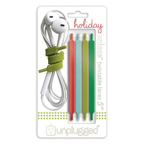 UNLACE 5 inch<br>twistable laces (4-pack / holiday)