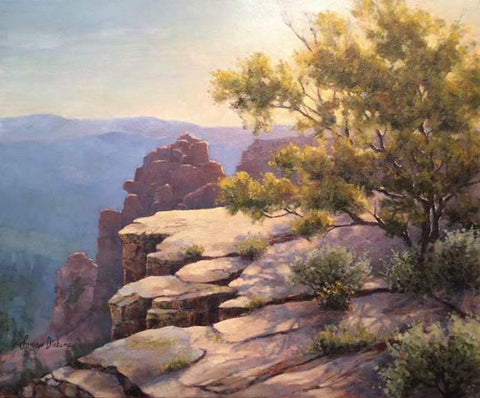 Mogollon Overlook - oils Paintings by artist Lucy Dickens