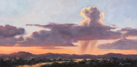 Monsoon - oils Paintings by artist Lucy Dickens