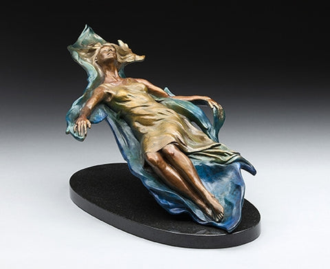 Go with the Flow - Bronze Sculpture by artist Phyllis Mantik deQuevedo