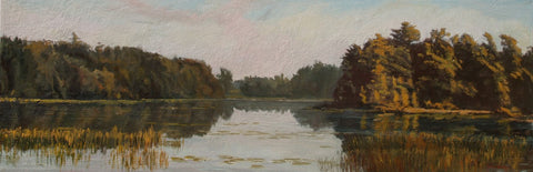 Lakeside Silence - Oil Paintings by artist John Horejs