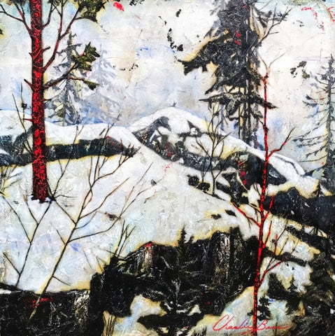 Early Winter - Acrylic on cement Paintings by artist Charlie Barr