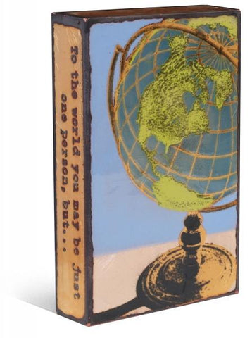 187 Global - Glass on Copper Metal Wall Art by artist Houston Llew - Spiritiles