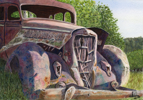 Big Red - Watercolor Paintings by artist Helen L. Rietz