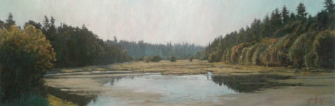 Burnt Bridge Creek - Oil Paintings by artist John Horejs