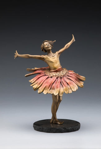 Daisy Dance - Bronze Sculpture by artist Phyllis Mantik deQuevedo