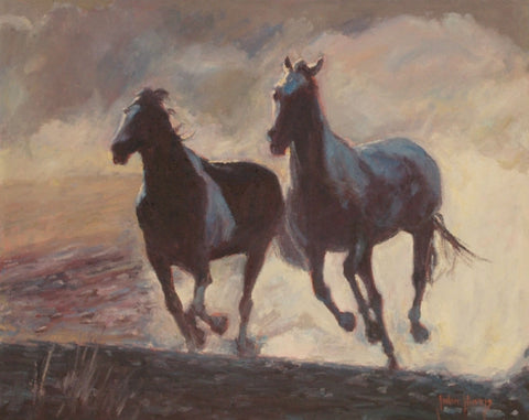 Dust in the Wind - Oil Paintings by artist John Horejs