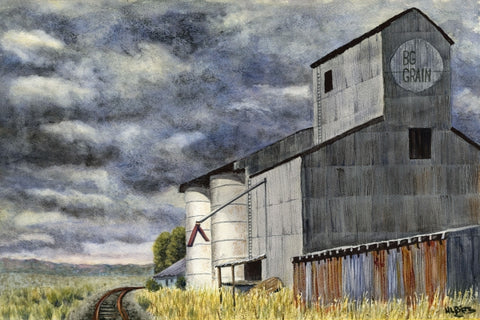 West of the Tracks - Watercolor Paintings by artist Helen L. Rietz