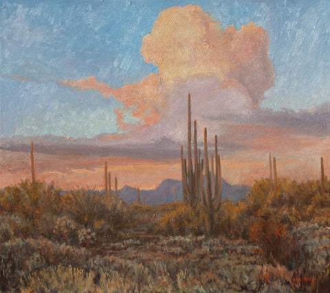 Thunderheads Over the Desert - Oil Paintings by artist John Horejs
