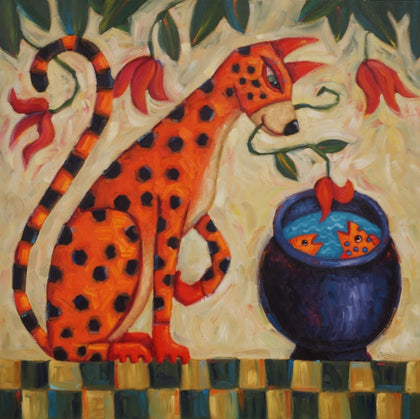 An Offering - oil on canvas Paintings by artist Cindy Revell