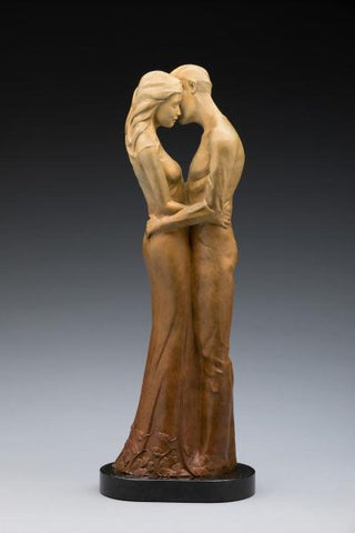 One Heart - Bronze Sculpture by artist Phyllis Mantik deQuevedo