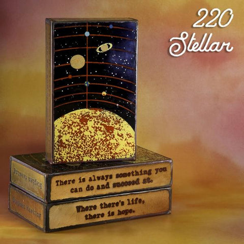 220 Stellar - Glass on Copper Metal Wall Art by artist Houston Llew - Spiritiles