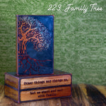 223 Family Tree - Glass on Copper Metal Wall Art by artist Houston Llew - Spiritiles