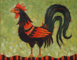 Stands Proud in His Feathers - oil on canvas Paintings by artist Cindy Revell
