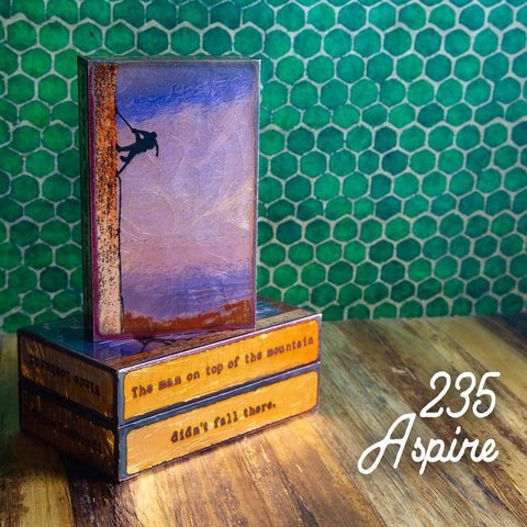 235 Aspire - Glass on Copper Metal Wall Art by artist Houston Llew - Spiritiles