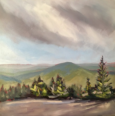 Baldy's Peak  - Acrylic Paintings by artist Shalece Fiack
