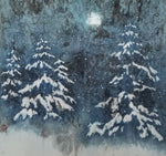 A Winter's Tale 1 - Ink and watercolor on ricepaper Paintings by artist Karen Kurka Jensen