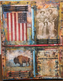 Americona Series  - Mixed Media Paintings by artist Dave Newman